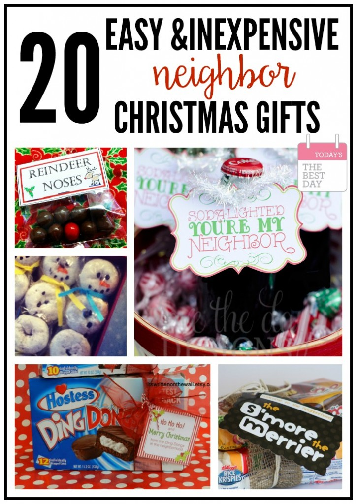Easy inexpensive and fast neighbor christmas gifts