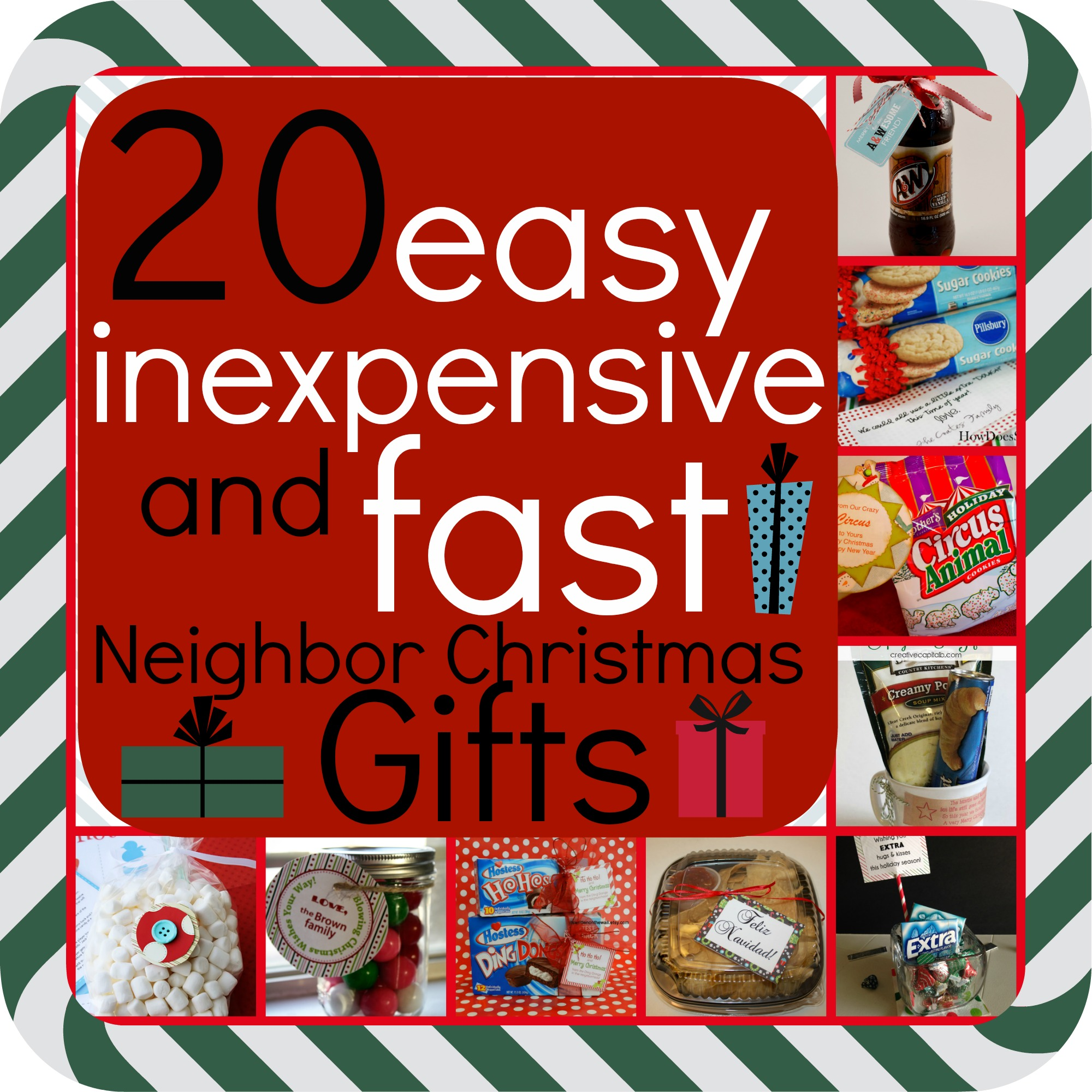 20 easy inexpensive and fast neighbor christmas gifts for Easy presents to make for friends