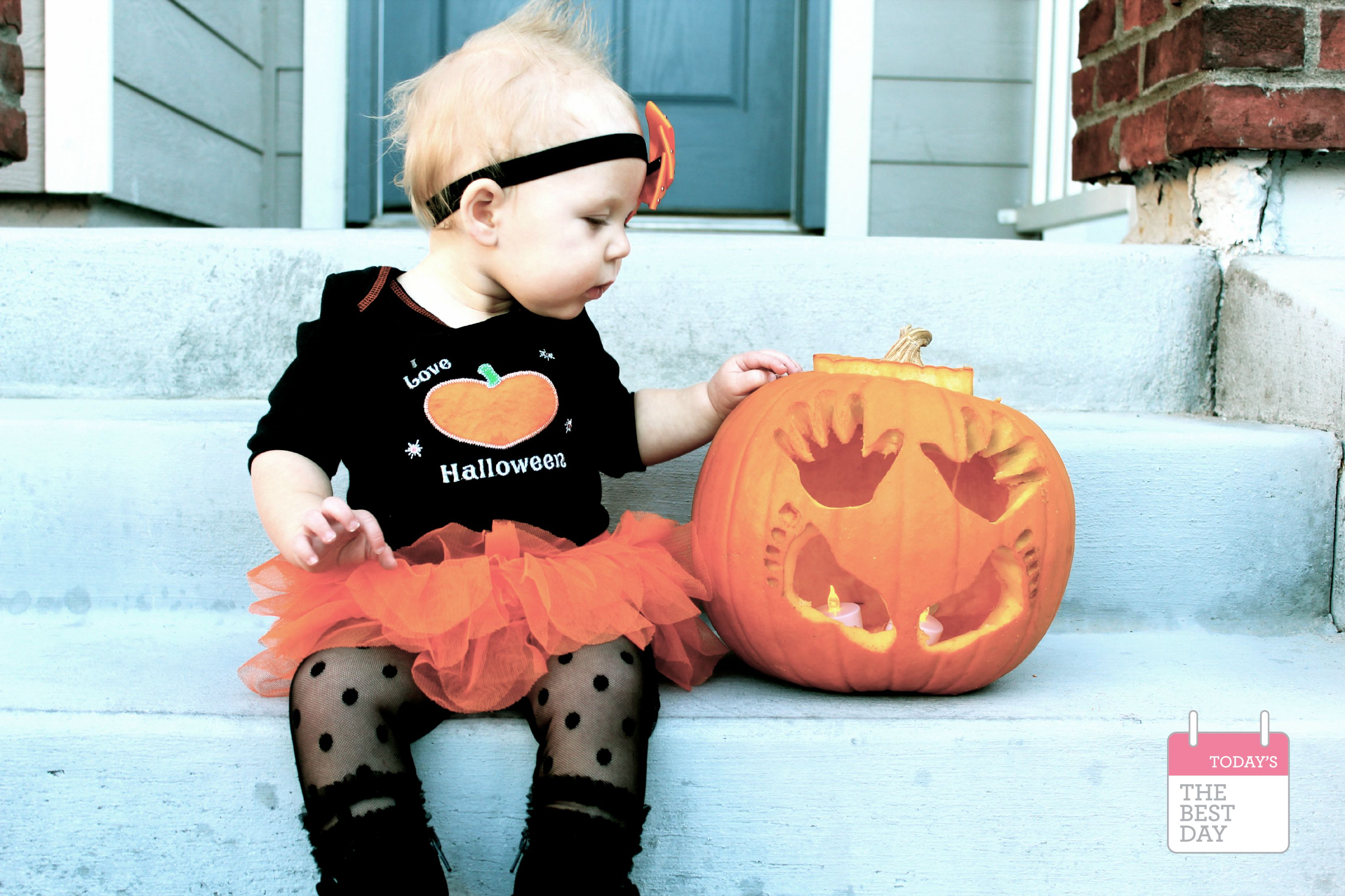 baby's first halloween jack-o-lantern 3 - today's the best day