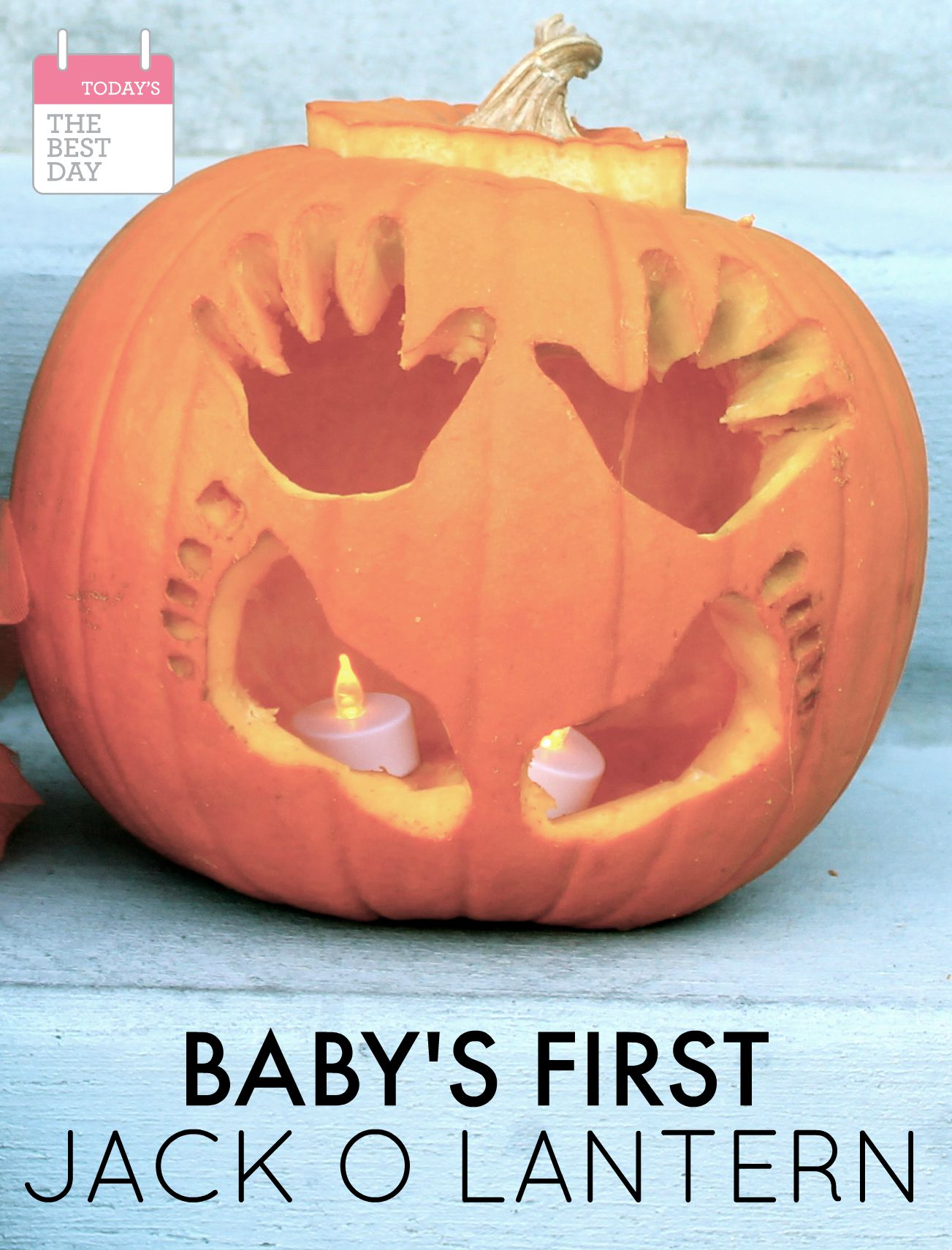 Baby's First Halloween Jack-O-Lantern - Today's the Best Day