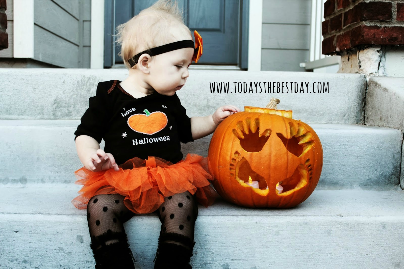 click to check out babys first halloween jack o lantern tutorial