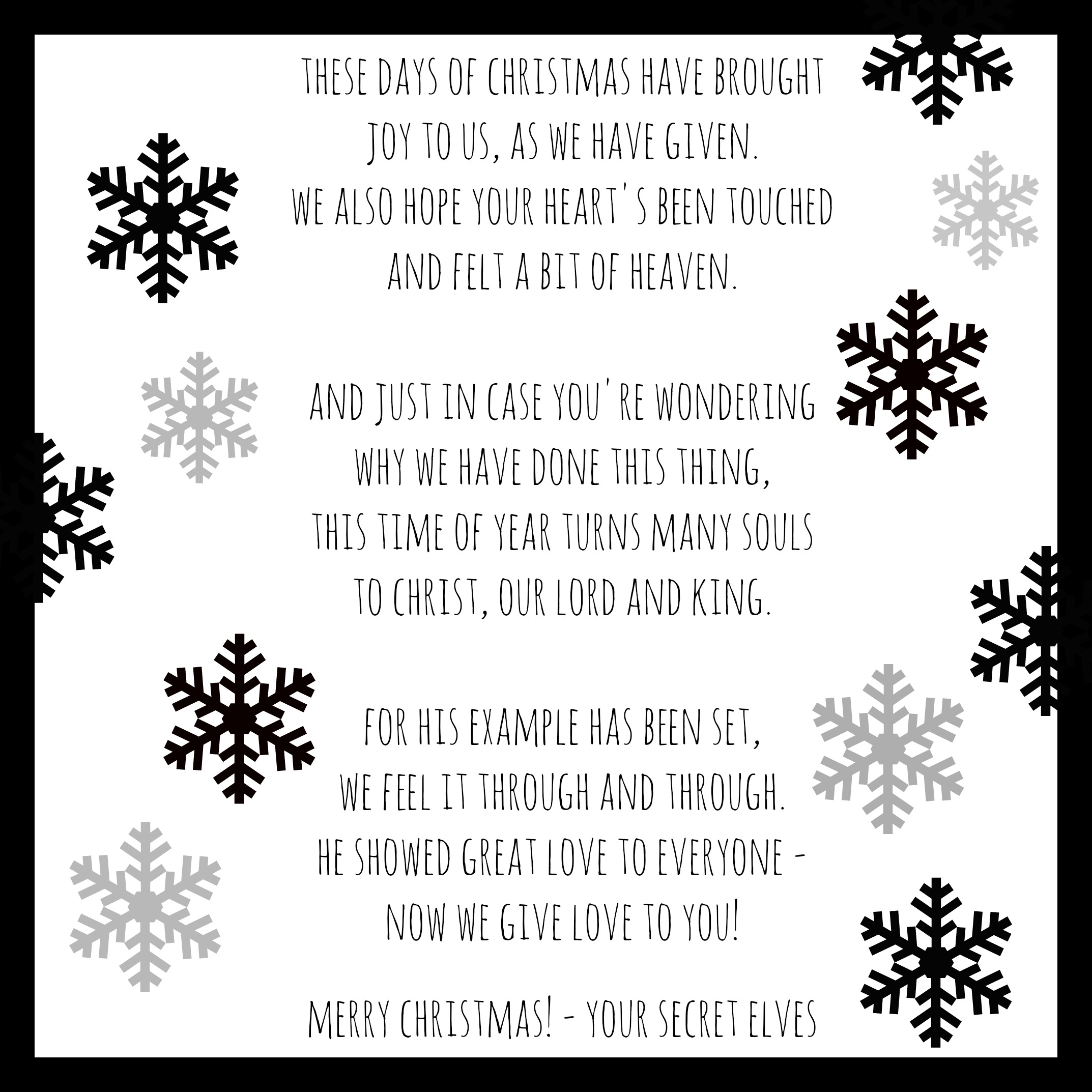This is a graphic of Merry Christmas From Heaven Poem Printable in brother heaven