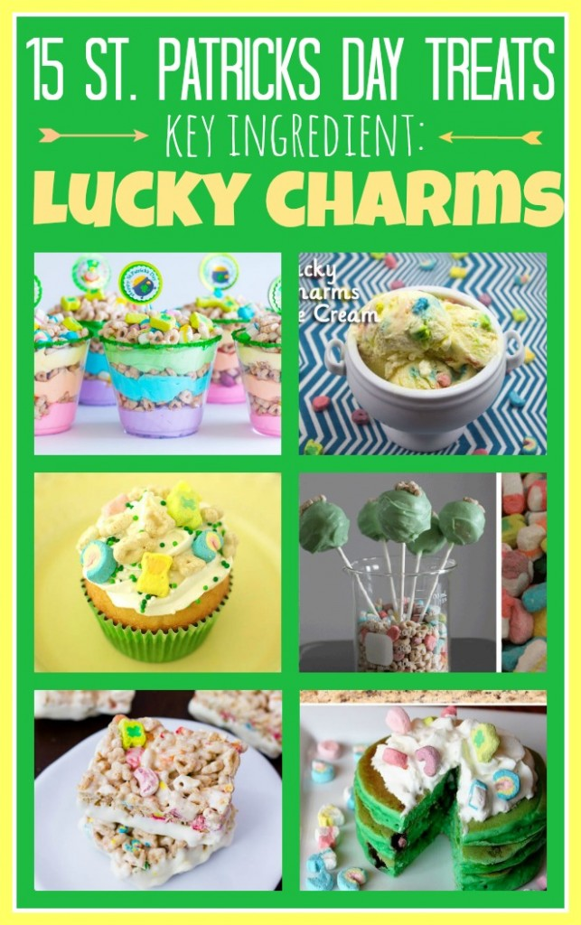 15 Lucky Charms Treats for St. Patricks Day