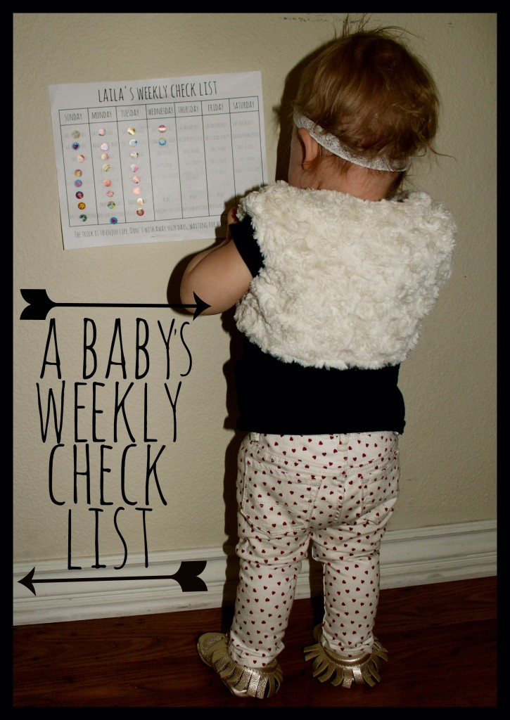 A Babys Weekly Check List