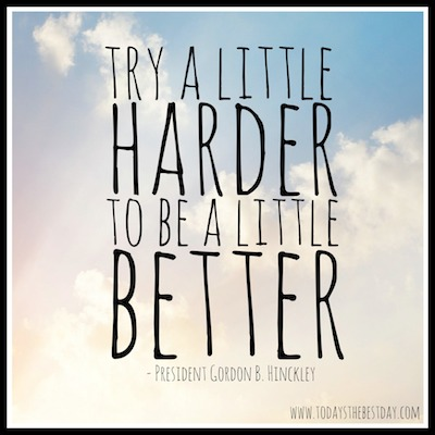 Sunday Thought - Try A Little Harder
