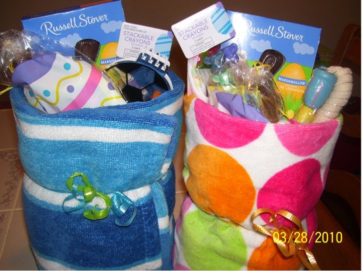 Top 15 most creative easter baskets todays the best day beach towel easter basket negle Gallery