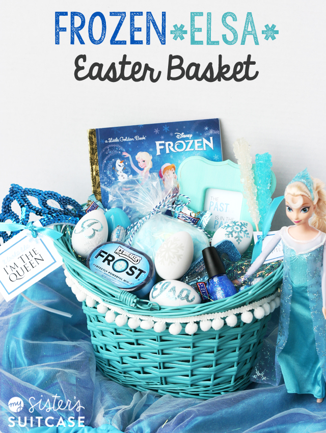 Top 15 most creative easter baskets todays the best day frozen elsa easter basket negle Choice Image