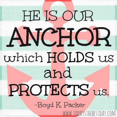He is our anchor