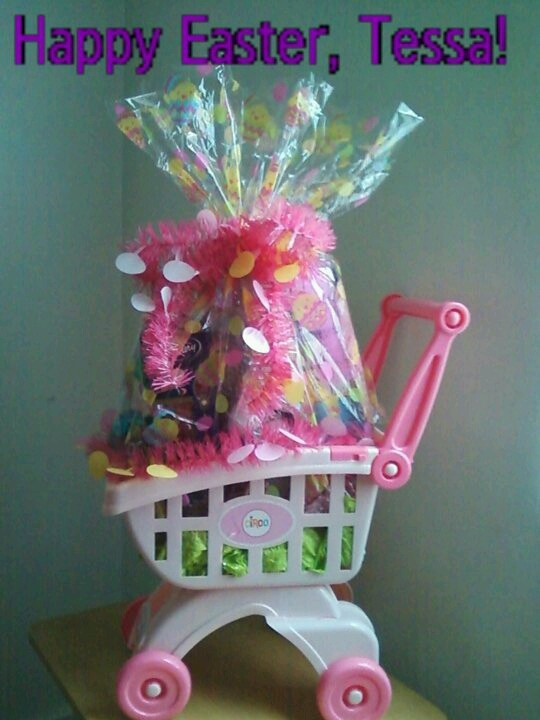 Top 15 most creative easter baskets todays the best day shopping cart easter basket from pinterest shopping cart easter basket negle