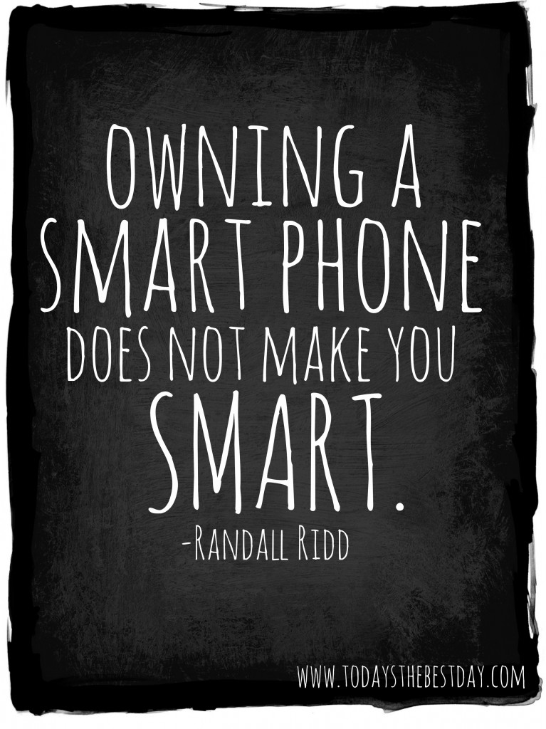 owning a smart phone