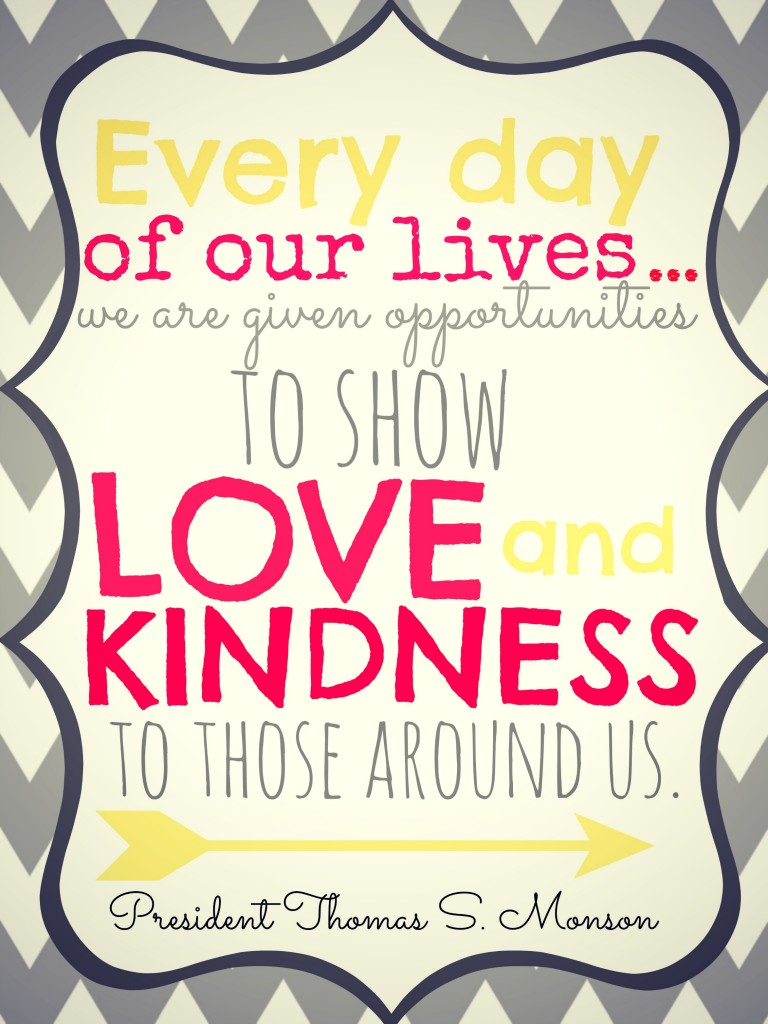 show love and kindness