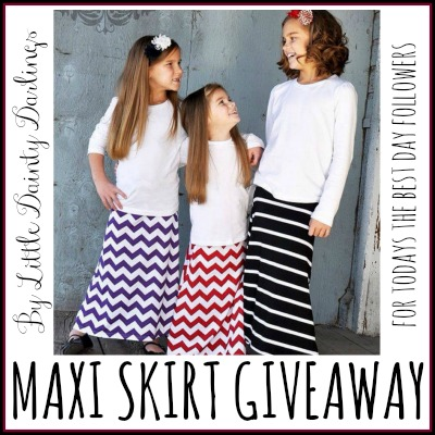 Little Dainty Darlings Maxi Skirt Giveaway 2