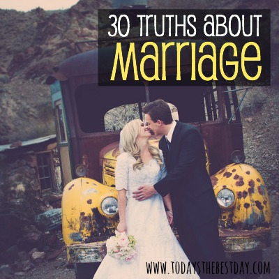 30 Truths About Marriage