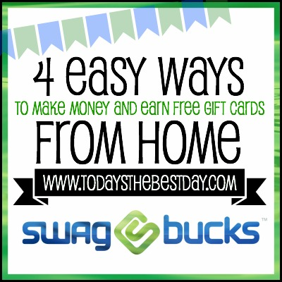 4 Easy Ways To Make Money and Earn Free Gift Cards From Home Using SwagBucks