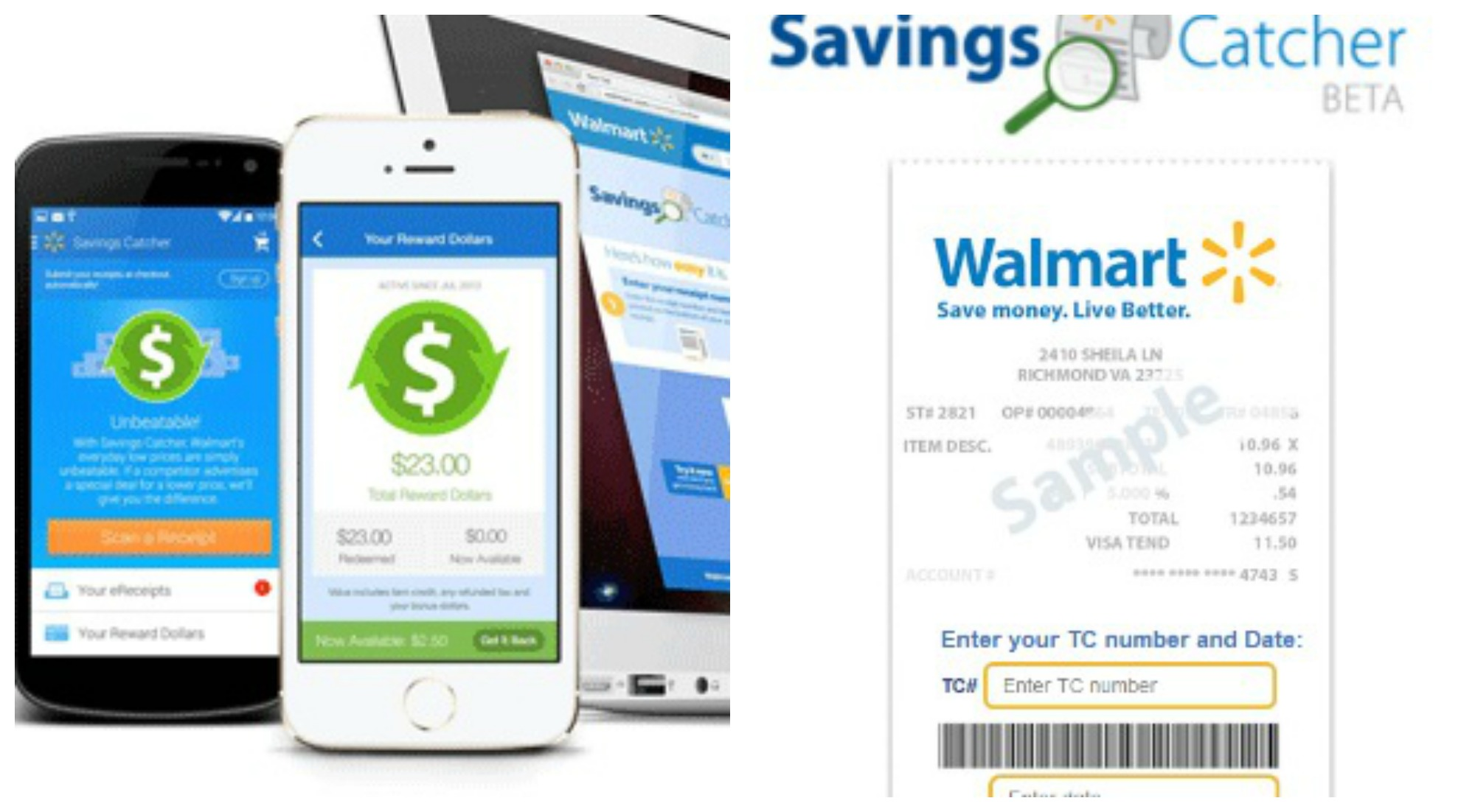 The magic of price matching on to step two the savings catcher