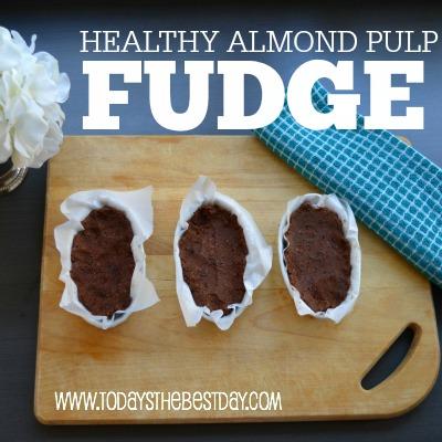 HEALTHY Almond Pulp Fudge