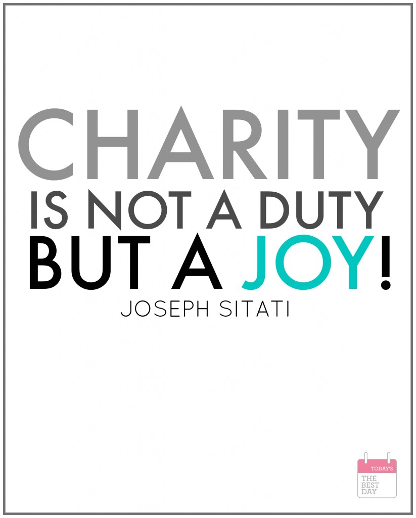 CHARITY IS JOY