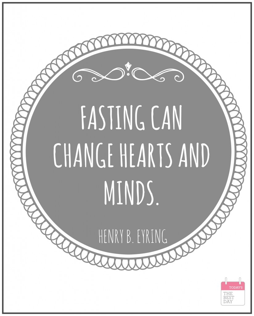 FASTING CAN CHANGE HEARTS AND MINDS