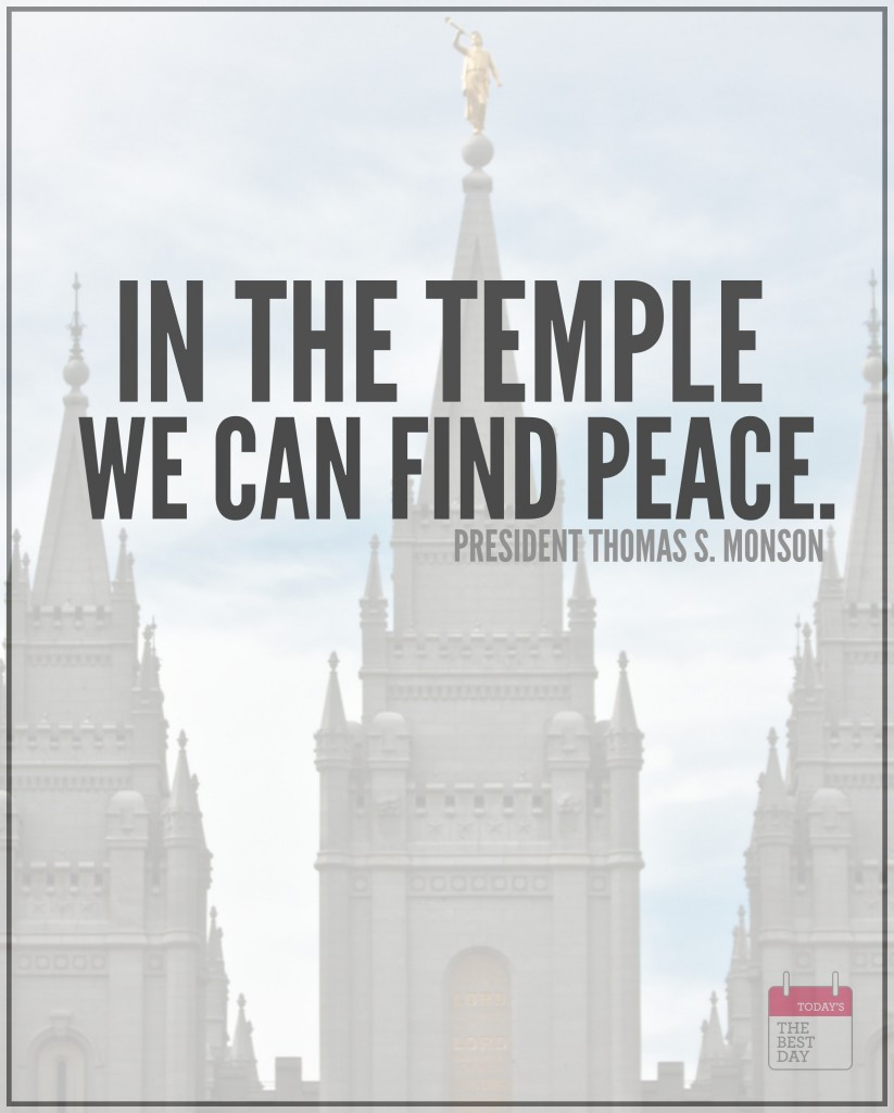 IN THE TEMPLE WE CAN FIND PEACE