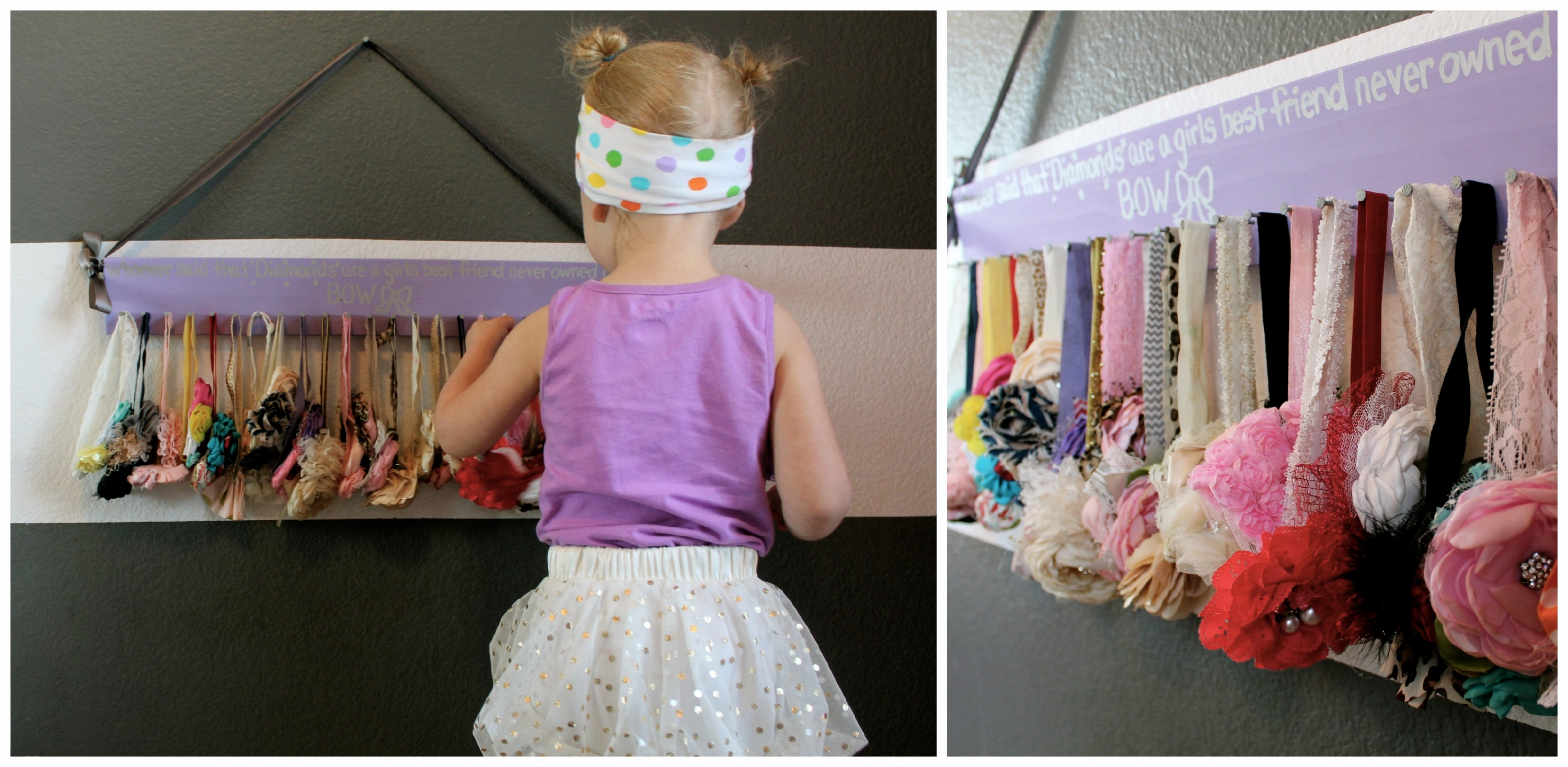 these fun headband racks are creative ways to hang headbands bows and clips no more stuffing them in a drawer and having to search every morning for the