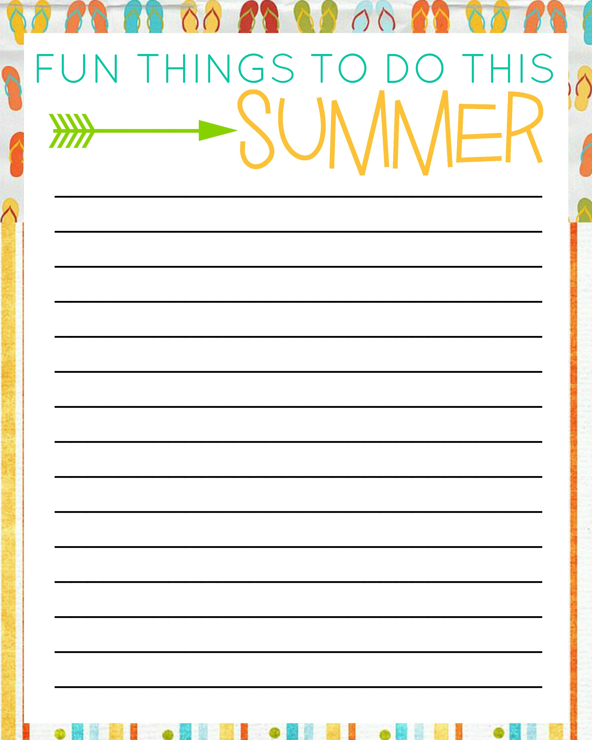 photograph about Bucket List Printable identify 50 Components Towards Do This Summer time With Free of charge Printable Bucket Lists
