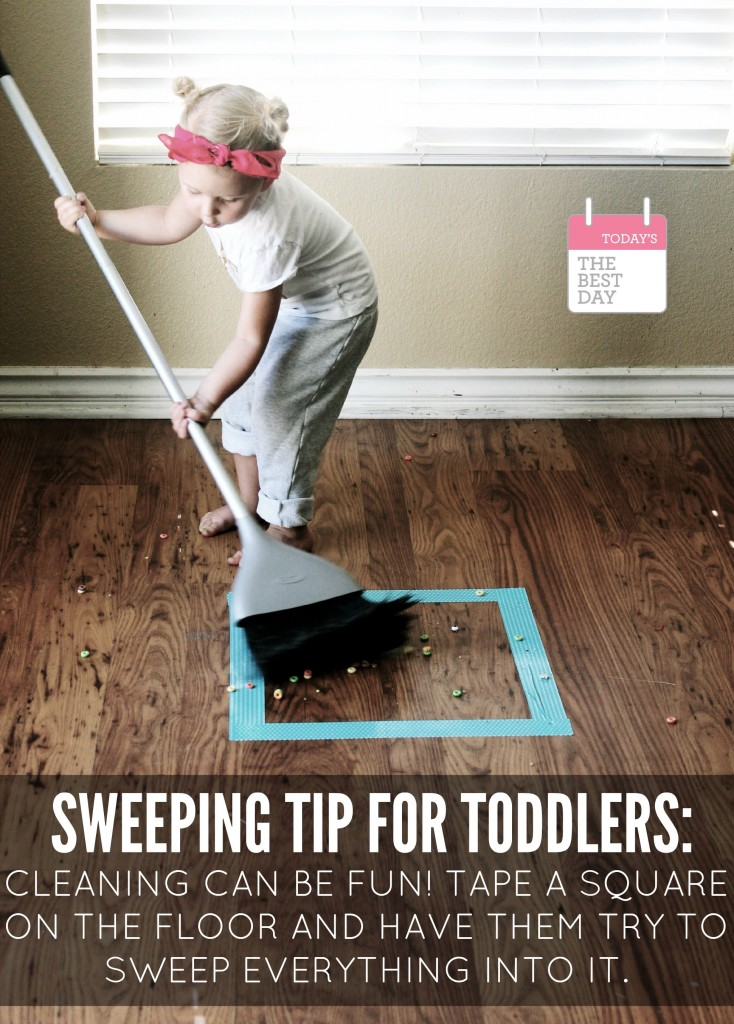 Sweeping Tip For Toddlers!