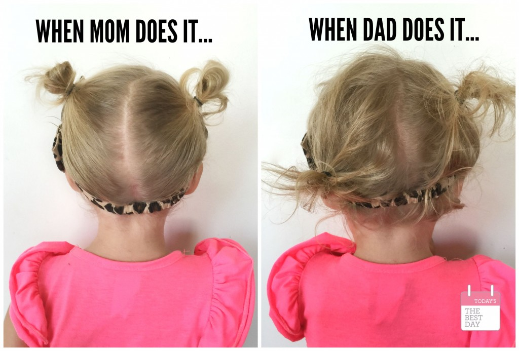 WHEN MOM DOES IT... WHEN DAD DOES IT.... TODDLER HAIR!