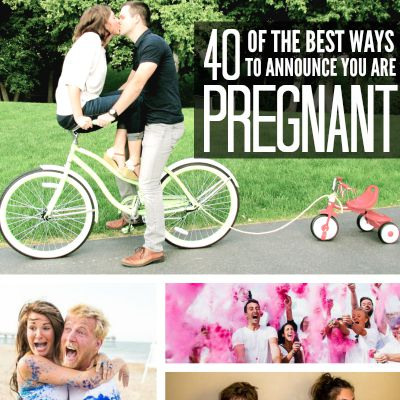 40 of the best ways to announce you are pregnant! LOVE these!!