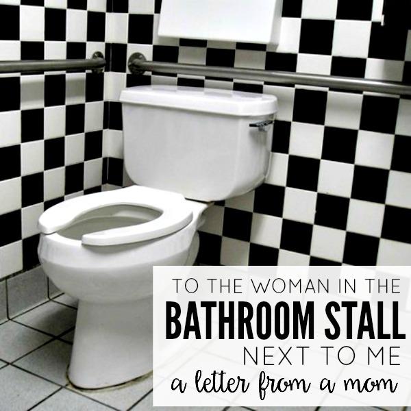 Bathroom Stall En Espaубol to the woman in the bathroom stall next to me - today's the best day