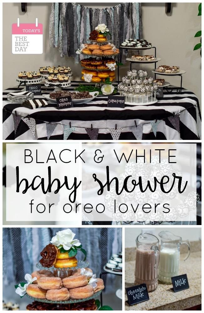 Black And White Baby Shower Oreo Baby Shower
