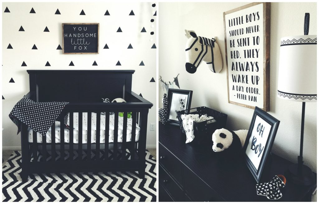 Black And White Nursery With Baby Cache Today S The Best Day