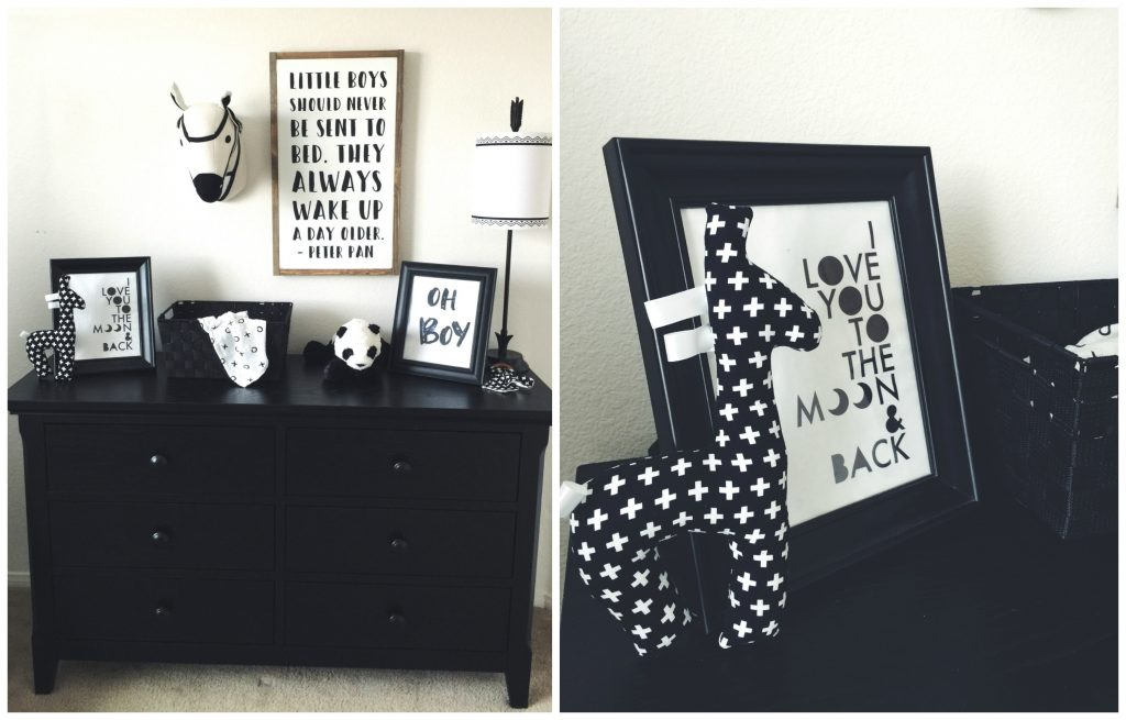 Black and White Nursery with Baby Cache - Today's the Best Day