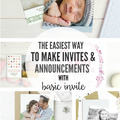 The Easiest Way To Make Invites & Announcements with Basic Invite2