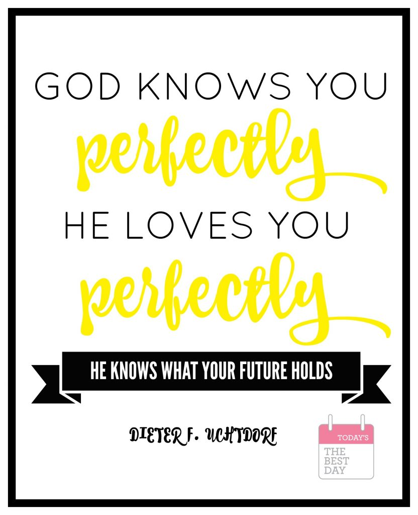 GOD KNOWS YOU PERFECTLY