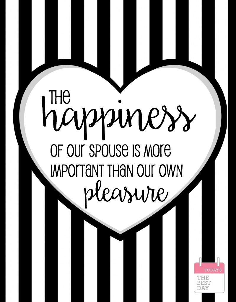 happiness of our spouse