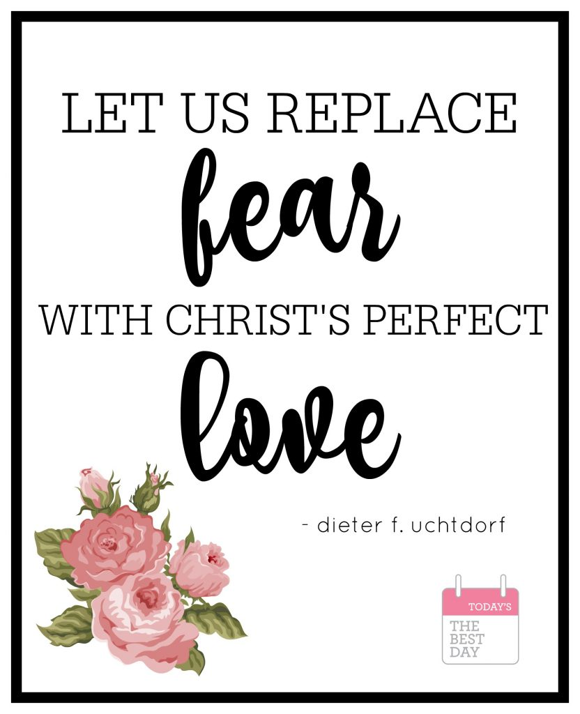 replace fear with love