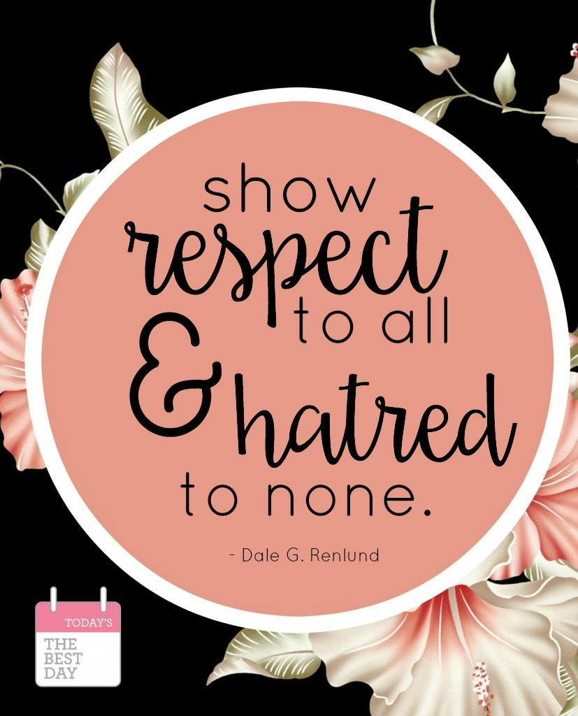 show respect to all