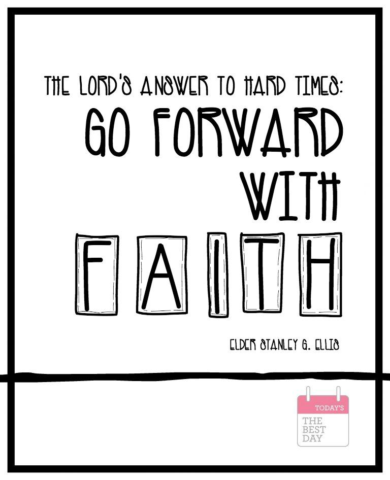 GO FORWARD WITH FAITH