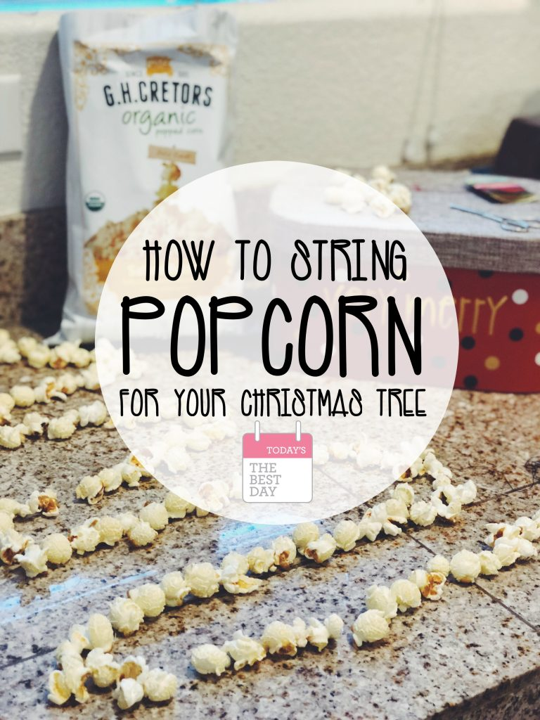 How To Sting Popcorn For Your Christmas Tree  - G H Cretors