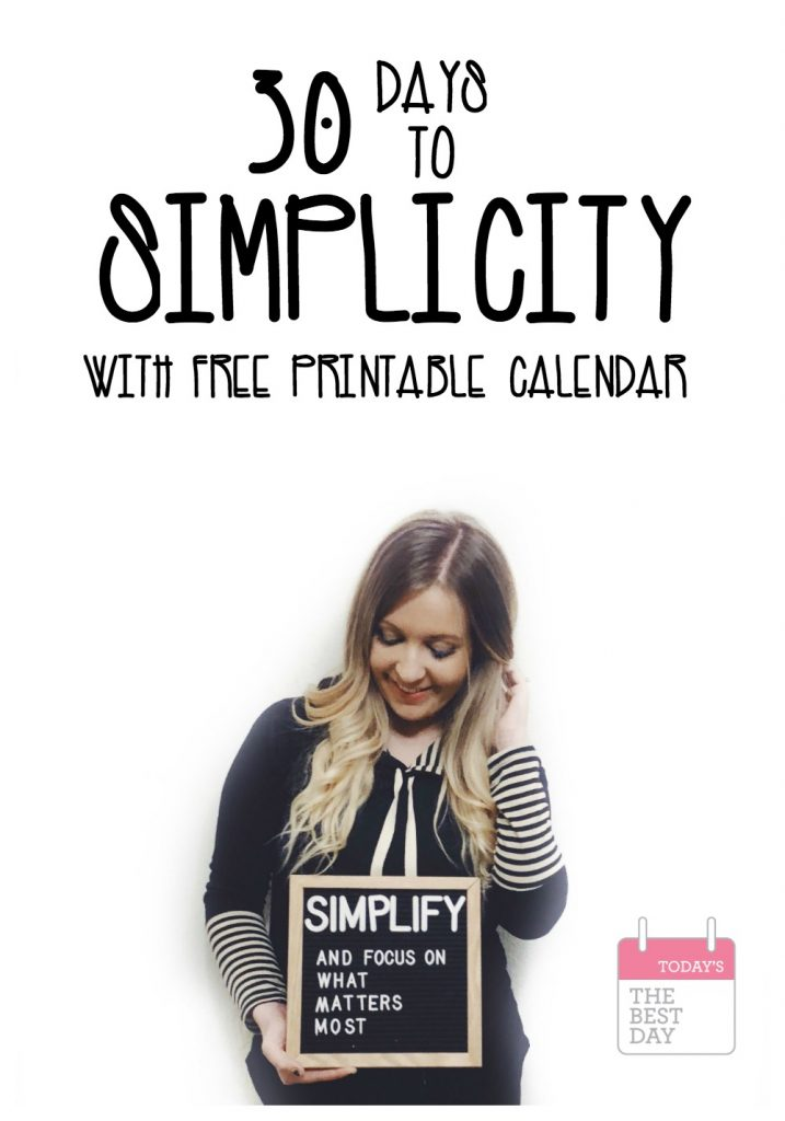 30 DAYS TO SIMPLICITY COVER